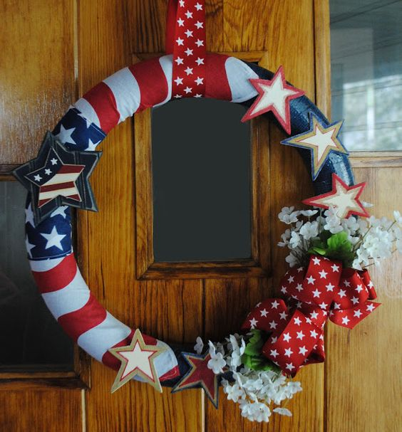 One Day at a Time: Red, White, and Blue Wreath