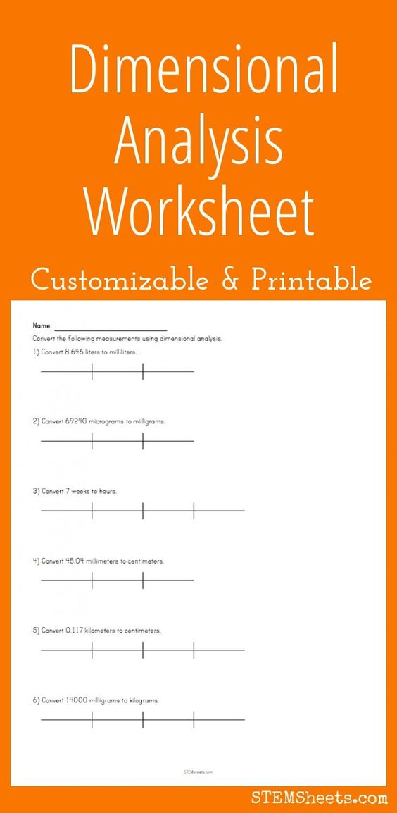 Dimensional analysis worksheet unit 1 lesson 2