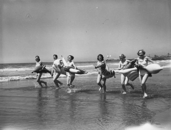 Having fun in 1930's Santa Monica.