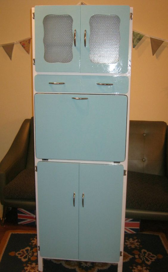 cabinets cupboards retro dressers kitchens blue kitchen cabinets ebay