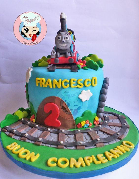 Cake Design Trenino Thomas : torta decorata trenino thomas #cakedesign Torte decorate ...