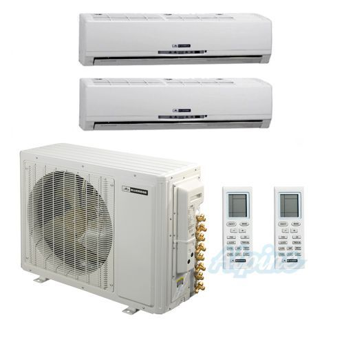 Blueridge 30 000 Btu 21 Seer Two Zone Ductless Mini Split Heat Pump With Images Heat Pump System Air Conditioning System Ductless Mini Split