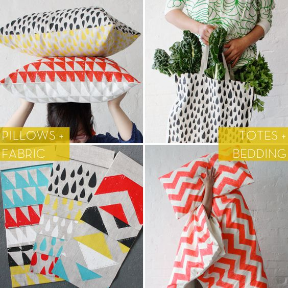 Harvest Textiles: totes, bedding, pillows, fabric!: