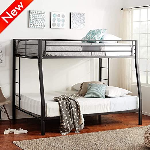 Aooppec Upgraded Version Stronger Metal, Queen Bed Frame With Guard Rails