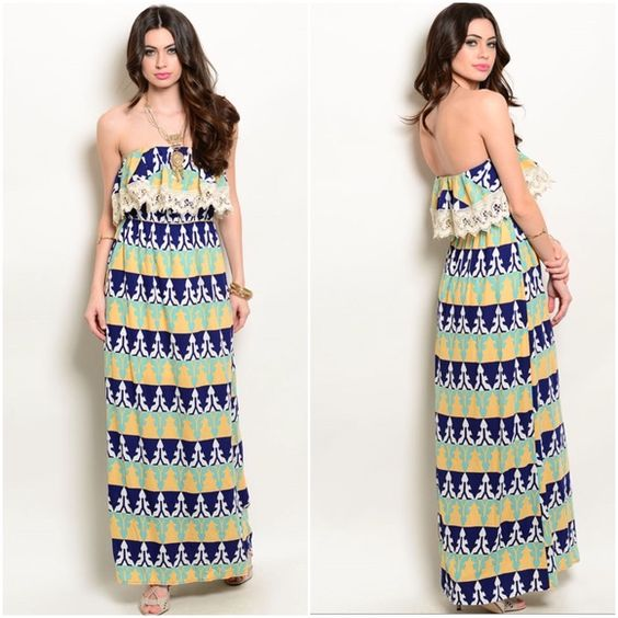 Maxi dress for large bust