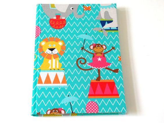 Stoff bezogenes Tagebuch, das ich auch gerne personalisiere. 22,50€  von scatoli
