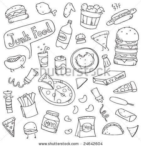 Cute Doodles Junk Food And Doodles On Pinterest
