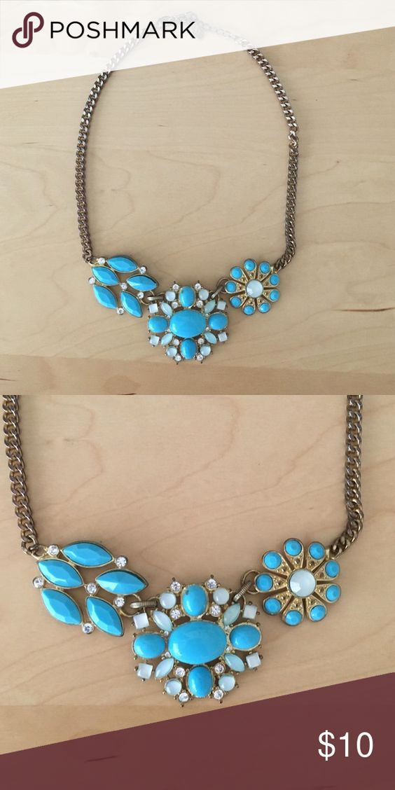 Turquoise necklace Shorter necklace length looks bold and beautiful. Let it spice up a shirt or pair it with a darker dress to make your look really pop! Macy's Jewelry Necklaces