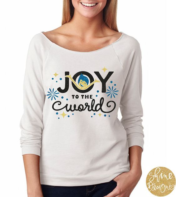 Joy To The World  Inside Out Shirt  Christmas by ShineDesignsTees