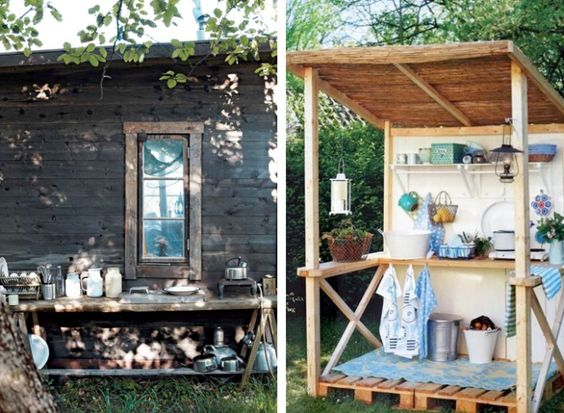 Rustic Outdoor Kitchens Via Remodelista Country