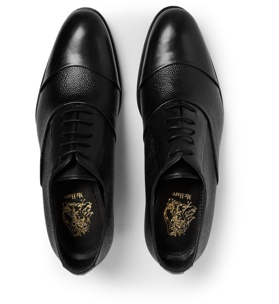 'We are creating shoes that have the quality to last a lifetime,' explained Mr. Marc Hare to The Journal, and these 'Miles' shoes are a stunning case in point. They have been expertly crafted in Italy from a combination of hard-wearing pebble-grain leather and smooth panels – they retain an irreproachably smart air yet shed much of the sobriety associated with traditional dress shoes.