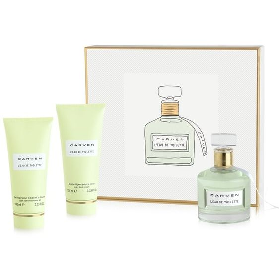 Carven L'Eau de Toilette Gift Set (12350 RSD) ❤ liked on Polyvore featuring beauty products, gift sets & kits, eau de toilette perfume, carven perfume and edt perfume