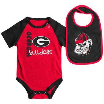 Colosseum Georgia Bulldogs Newborn & Infant Red/Black Rookie Bodysuit &…