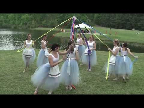 ▶ Maypole Dance at Wildwood - The music, in my opinion, leaves a little to be desired, but nonetheless this is a great example of a traditional May Pole dance. Ideally there should be male and female dancers to represent fertility, but other that that, this is a good look at a traditional maypole.