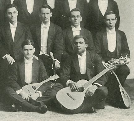 White with the Williston Musical Association (The Log, 1908)