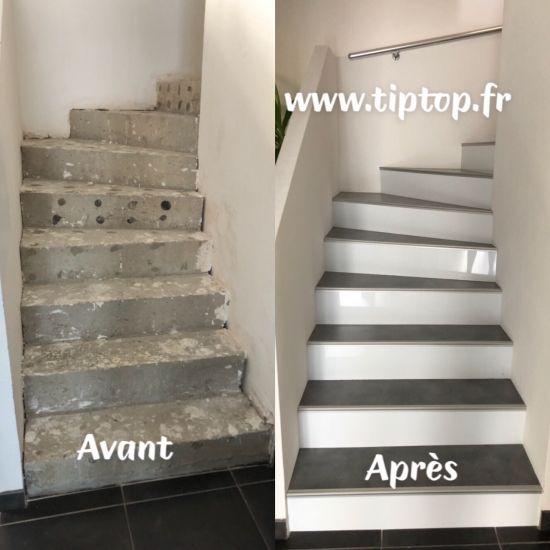 Renovation Escalier Beton Par Habillage 68350 Brunstatt Escalier