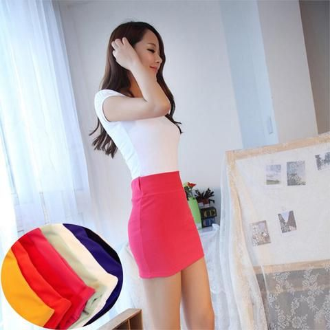 Summer/Spring/Autumn Casual Women Skirts High Waist Summer Tutu Bandage Skirt Candy Color Straight Bottom OL Lady Pencil Skirt