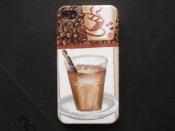 Coffee Time Espresso Decoupage case/ Classic style/ by Nannapatt, $15.50
