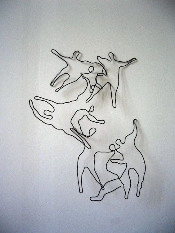 bonhommes en fil de fer sculpture art sculpture pinterest sculpture and html