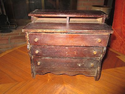 Needs Repair Antique WOODEN CHEST OF DRAWERS 1:8 Scale Miniature Doll Toy Wood  https://t.co/wFuQAnzzQL https://t.co/OfkoCjZ8Vi