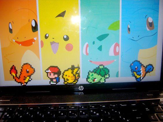 Pokemon Gen One - Hama Beads Pixel Art by Kukirio