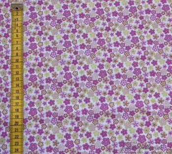 Baumwollstoff Blumen rosa online bei fashionpillow.de kaufen