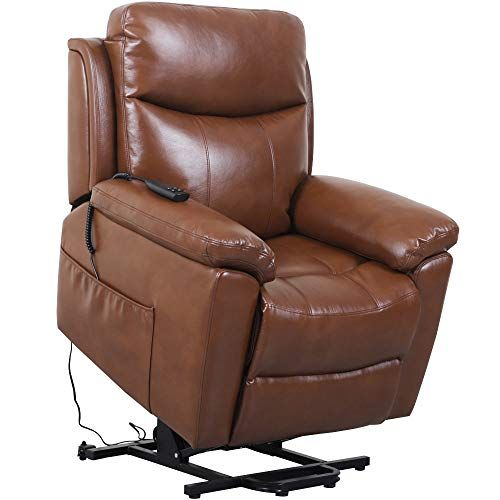 Irene House Dual Motor Lays Flat Electric Power Lift Recliner Chair For Elderly Comfortable Breath Leather Soft In 2020 Recliner Chair Lift Recliners Recliner