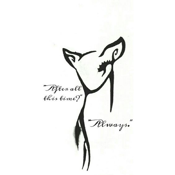 My / Harry Potter / tattoo / I designed from a picture of a buck which I edited into a Doe and added the quote. / Severus Snape / always / quotes.