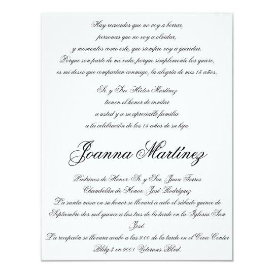 Create Your Own Invitation Zazzle Com Quinceanera Invitation Wording Quinceanera Invitations Spanish Wedding Invitations