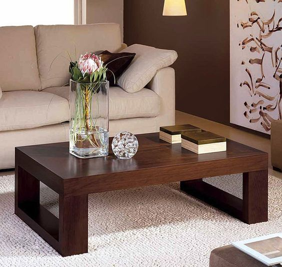 mesa de centro colonial javea material madera de pino u