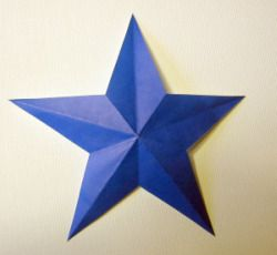 How to make a perfect five pointed star with 1 snip of the for How to cut a perfect star