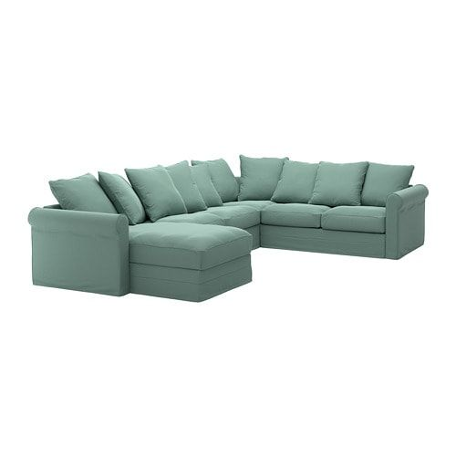 Gronlid Sectional 5 Seat Corner With Chaise Ljungen Medium Gray U Shaped Sofa Large Sofa Sectional