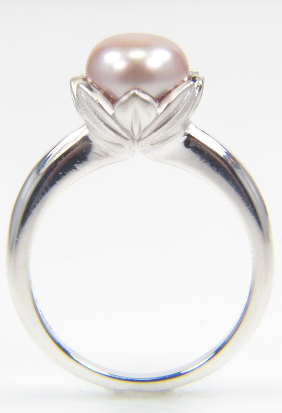 adorable pink pearl tulip ring my jewelry creations