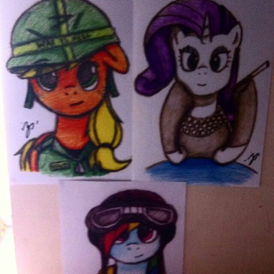 I believe it's art - my friends pony drawings!  :)