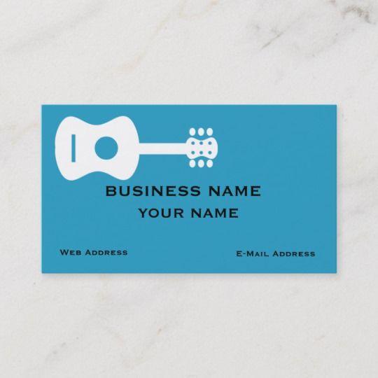 Guitar Business Card Zazzle Com Business Cards Cards Business