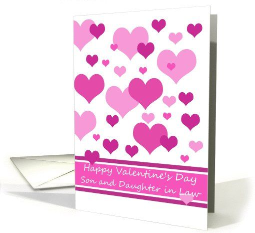 son daughter in law happy valentines day pink hearts valentines day card card happy valentines day my greeting card universe pinterest card
