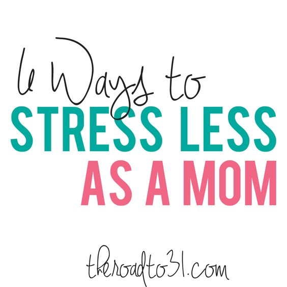 6 Ways to Stress Less as a Mom - I struggle with time management, do you?  Here is some practical advice about making your schedule work with small children in the home.