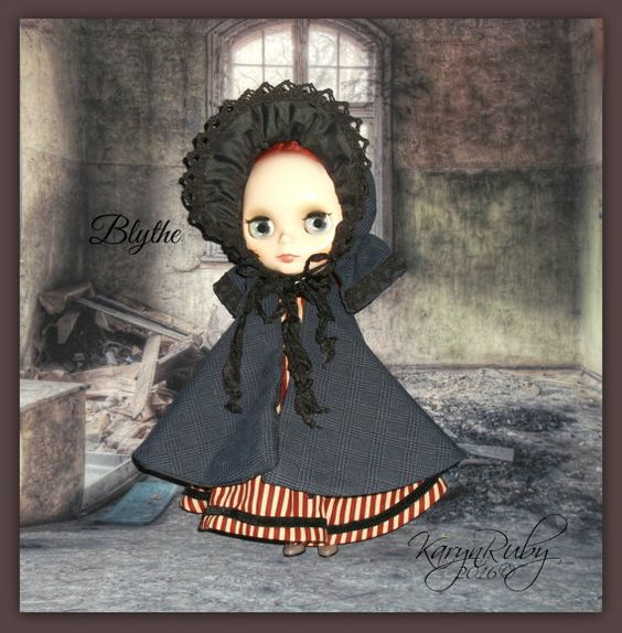 Blythe Victorian Vintage Inspired 3 Piece Outfit by KarynRuby