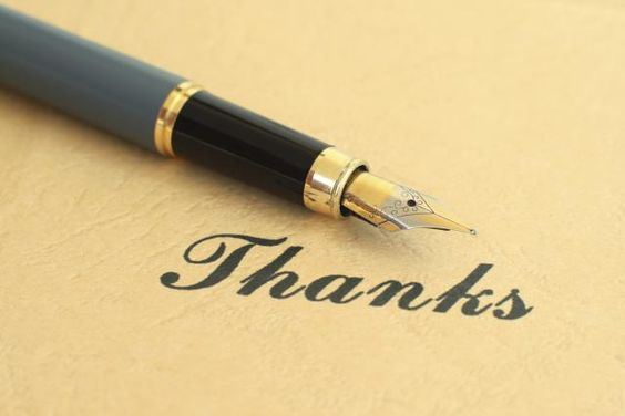 Thank you letter closings should reiterate your appreciation for what was received. Here are tips and examples of how to end a thank you letter or note.