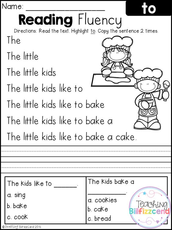 Kindergarten reading, Reading fluency and Kindergarten on ...