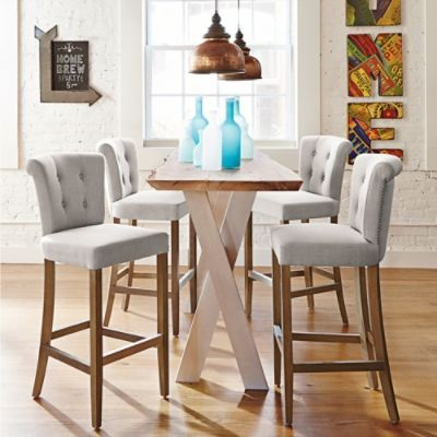 I just got these Tristan Counter Stools from Grandin Road...they really kick my Kitchen up a notch!!!!