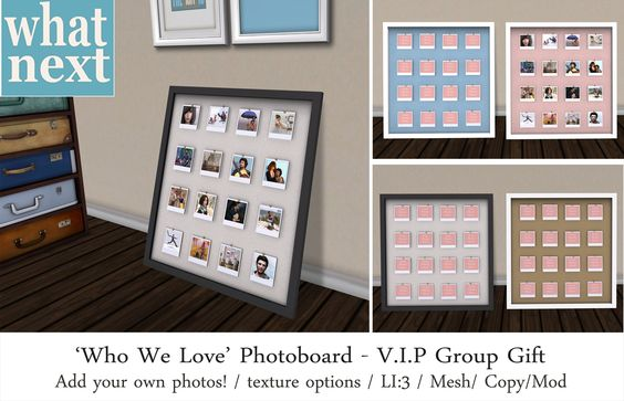 {what next} Who We Love Photoboard_ VIP Group Gift
