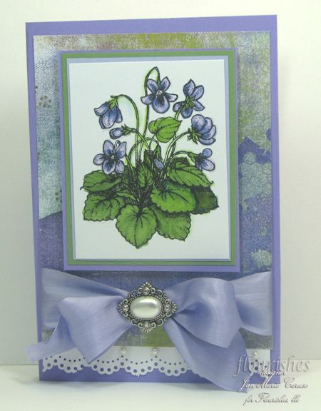 Sweet violets ; MS Doily lace border punch