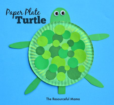 Paper plate turtle craft sea turtle crafts easy craft for Turtle arts and crafts
