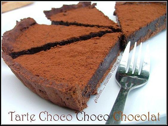 la tarte choco, choco, chocolat !