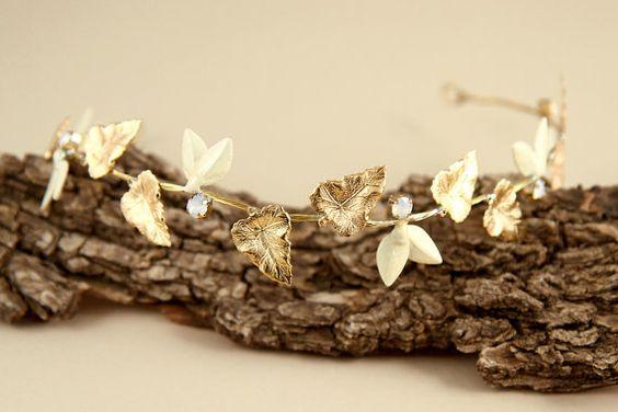 Grecian crown/ bridal hair jewelry/ wedding hair by Hinuma on Etsy