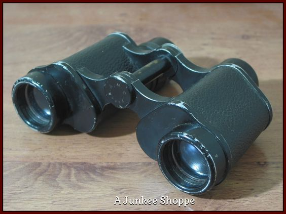 HAMILTON 6 x 30 Porro Binoculars Knockoff Of German Dienstglas 1962 Model   Junk0895  http://ajunkeeshoppe.blogspot.com/