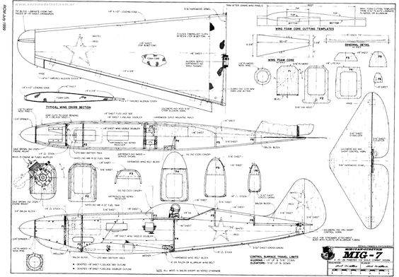 Mig 7 aeromodelo