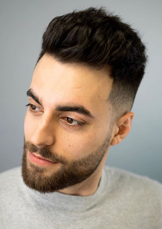 long quiff hairstyle male