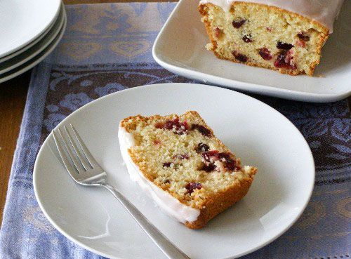♥ Cranberry studded almond infused cake with a simple almond glaze ♥